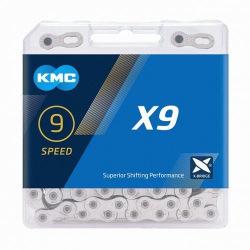 KMC reťaz X9 114čl. 9 kolo strieborná