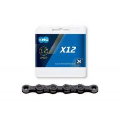 KMC reťaz X12 strieborno/čierna 12 kolo