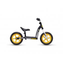 S'COOL odrážadlo Detské pedeX easy 10 čierno / žlté
