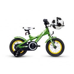 "S'COOL bicykel XXlite futbal 12"" zelený"