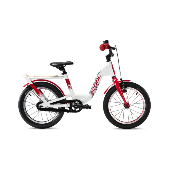 "S'COOL bicykel niXe EVO 16"" bielo / červený"
