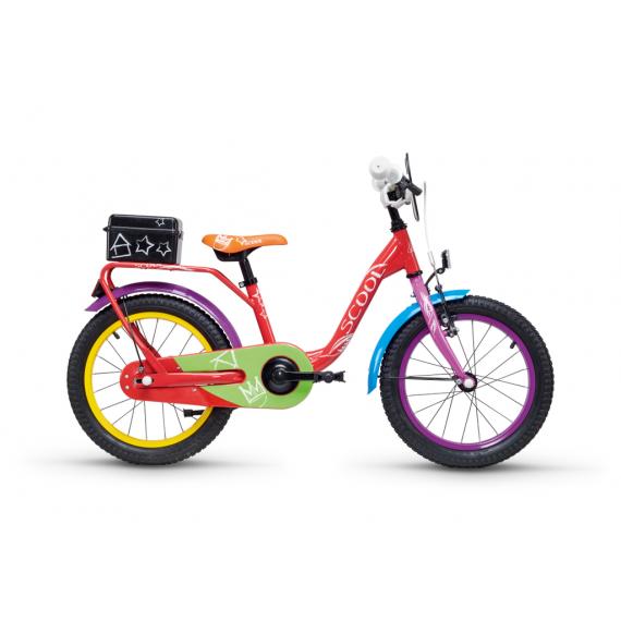 "S'COOL bicykel niXe chalk 18"" farebný"