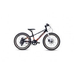 "S'COOL bicykel Xroc disc 20"" čierno / bielo / oranžový"