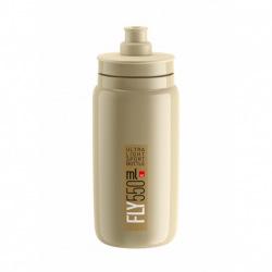 ELITE Fľaša FLY bežová hnedé logo 550 ml