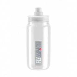 ELITE Fľaša FLY transparentná šedé logo 550 ml