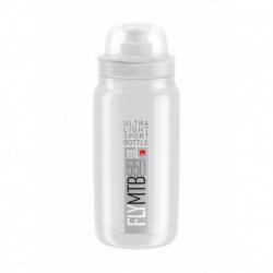 ELITE Fľaša FLY MTB transparentná šedé logo 550 ml