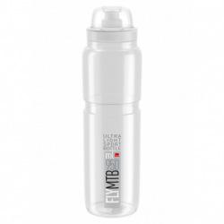 ELITE Fľaša FLY MTB transparentná šedé logo 950 ml