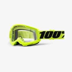100% okuliare Strata 2 MX MTB Yellow číre sklá