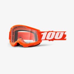 100% okuliare Strata 2 MX MTB Orange číre sklá