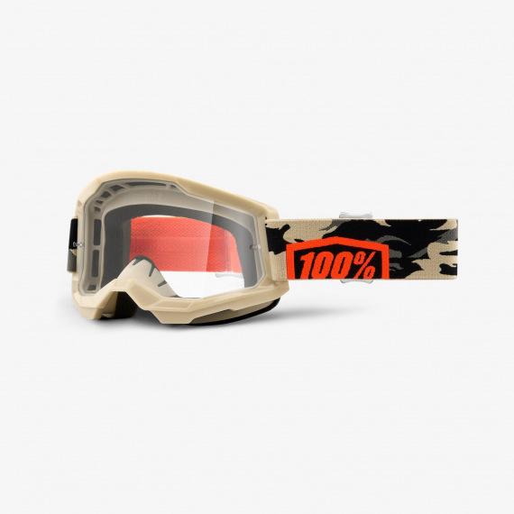 100% okuliare Strata 2 MX MTB Masego číre sklá