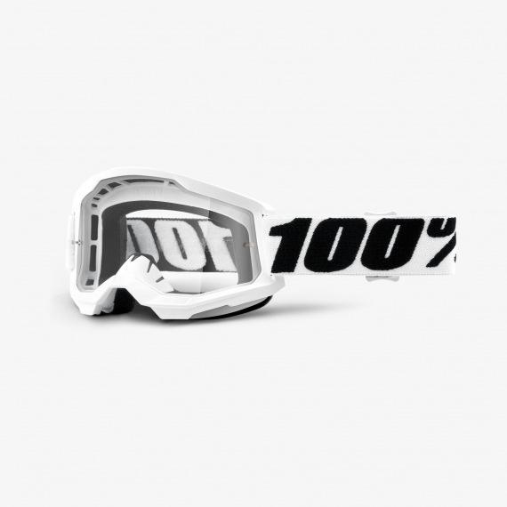 100% okuliare Strata 2 MX MTB Everest číre sklá