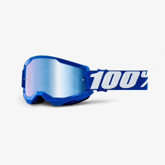 100% okuliare Strata 2 MX MTB Blue modré zrkadlové sklá