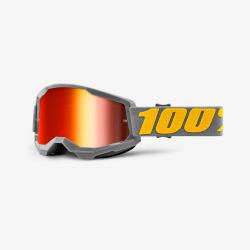 100% okuliare Strata 2 MX MTB Izipizi červené zrkadlové sklá