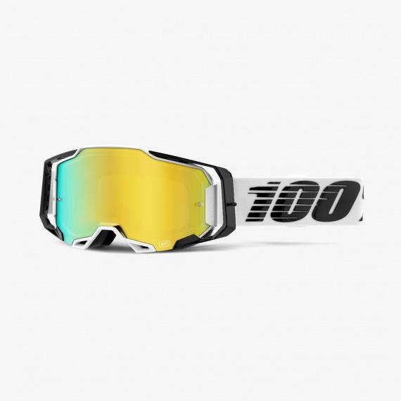100% okuliare Armega MX MTB Atmos zlaté zrkadlové sklá