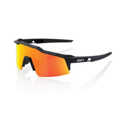100% okuliare Speedcraft XS SOFT TACT BLACK HIPER MULTILAYER červené zrkadlové sklá