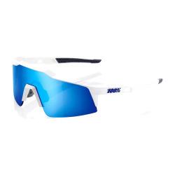 100% okuliare Speedcraft XS MATTE WHITE MULTILAYER modré zrkadlové sklá