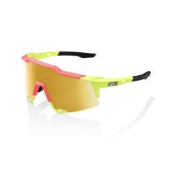 100% okuliare Speedcraft MATTE WASHED OUT NEON YELLOW zlaté zrkadlové sklá