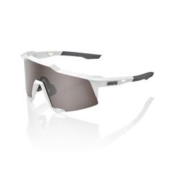100% okuliare Speedcraft MATTE WHITE HIPER strieborné zrkadlové sklá