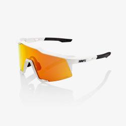 100% okuliare Speedcraft SOFT TACT OFF WHITE HIPER červené zrkadlové sklá