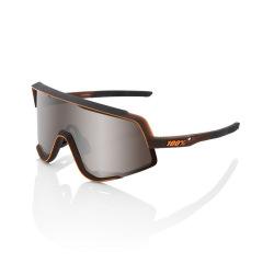 100% okuliare GLENDALE MATTE TRANSLUCENT BROWN FADE HIPER strieborné zrkadlové sklá