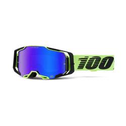 100% okuliare Armega MX MTB WAR RED HiPer strieborné zrkadlové sklá