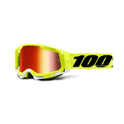 100% okuliare Racecraft 2 YELLOW červené zrkadlové sklá