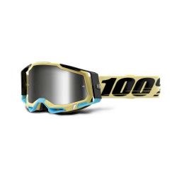 100% okuliare Racecraft 2 BLACK strieborné zrkadlové sklá