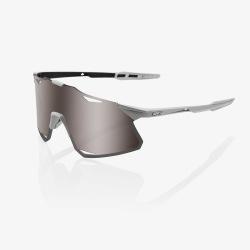 100% okuliare HYPERCRAFT Matte Stone Grey HiPER strieborné zrkadlové sklá