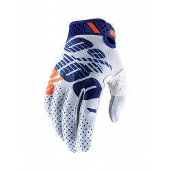 100% rukavice Ridefit NAVY/WHITE