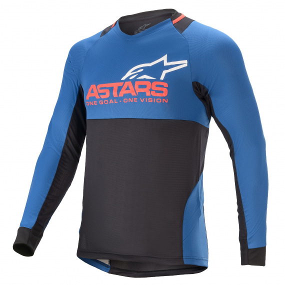ALPINESTARS Dres Drop 8.0 L/S Mid Blue Bright Red