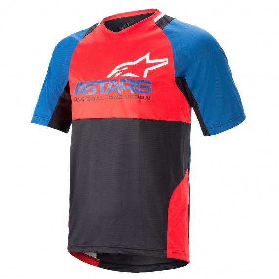 ALPINESTARS Dres Drop 8.0 S/S Mid Blue Bright Red